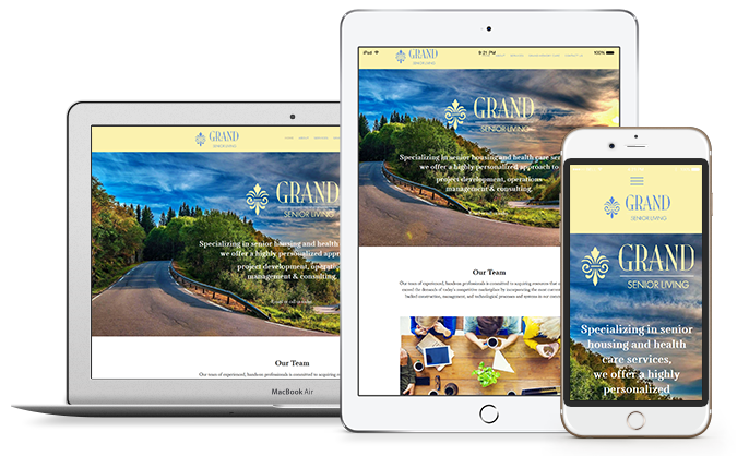 Ipad and Iphone with examples of mobile websites