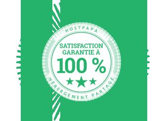 Garantie de satisfaction à 100 %