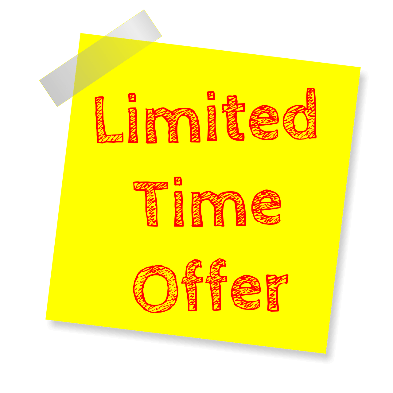 By having limited time offers, customers will buy more
