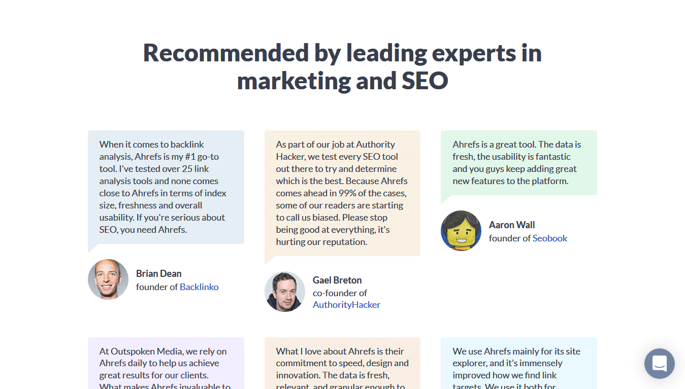 Recommendations can help your website