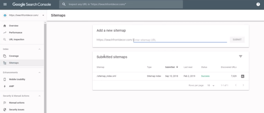 Create your sitemap and submit it to google search console