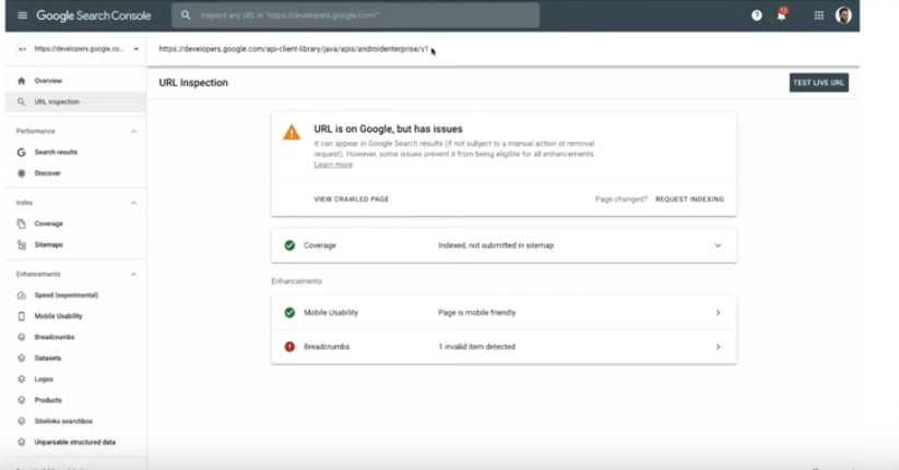 In google search console you can use the URL inspection feature