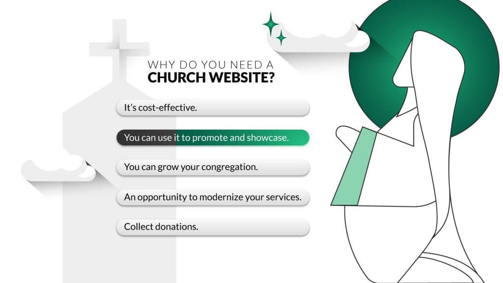 Check these church website examples