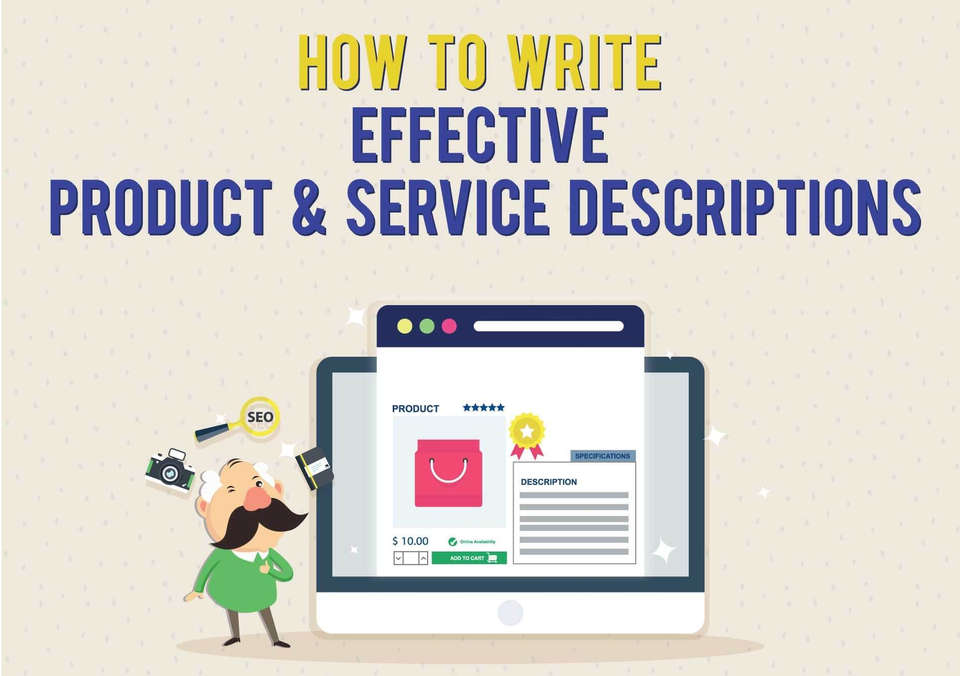 How to write effective product and service descriptions