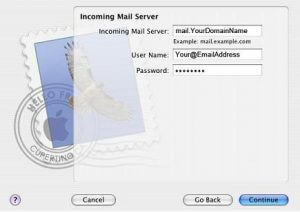 Setting up mac mail pop3