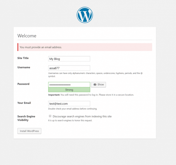 WordPress Administration Setup